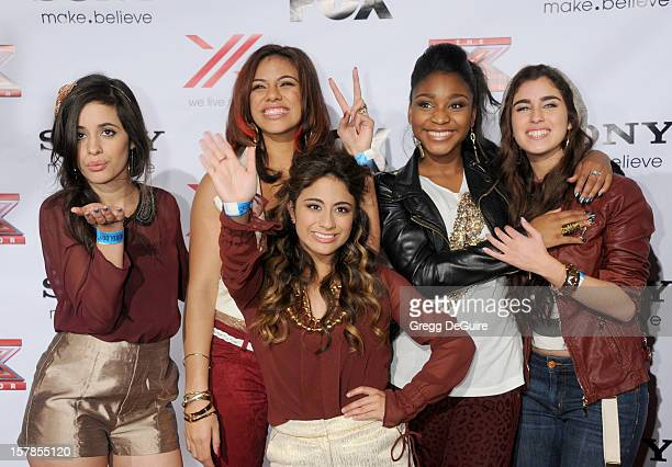 Factor finalists Fifth Harmony arrive at FOX's 'The X Factor' viewing party at Mixology101 Planet Dailies on December 6 2012 in Los Angeles California