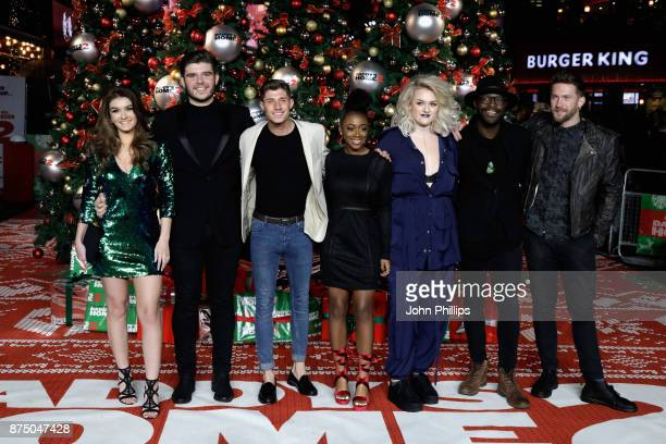 X Factor finalists Holly Tandy Lloyd Macey Sam Black RaiElle Williams Grace Davies Kevin Davy White and Matt Linnen arrive at the UK Premiere of...
