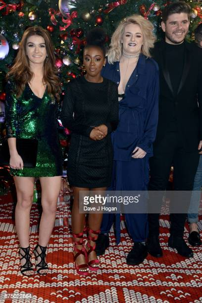 X Factor finalists Holly Tandy RaiElle Williams Grace Davies and Lloyd Macey arrive at the UK Premiere of 'Daddy's Home 2' at Vue West End on...