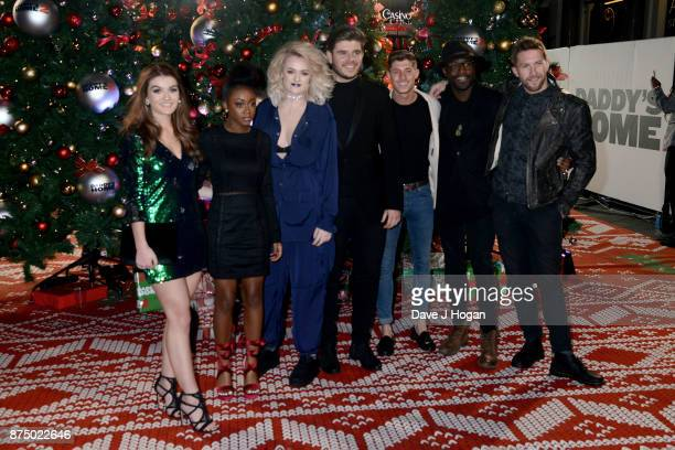 X Factor finalists Holly Tandy RaiElle Williams Grace Davies Lloyd Macey Sam Black Kevin Davy White and Matt Linnen arrive at the UK Premiere of...