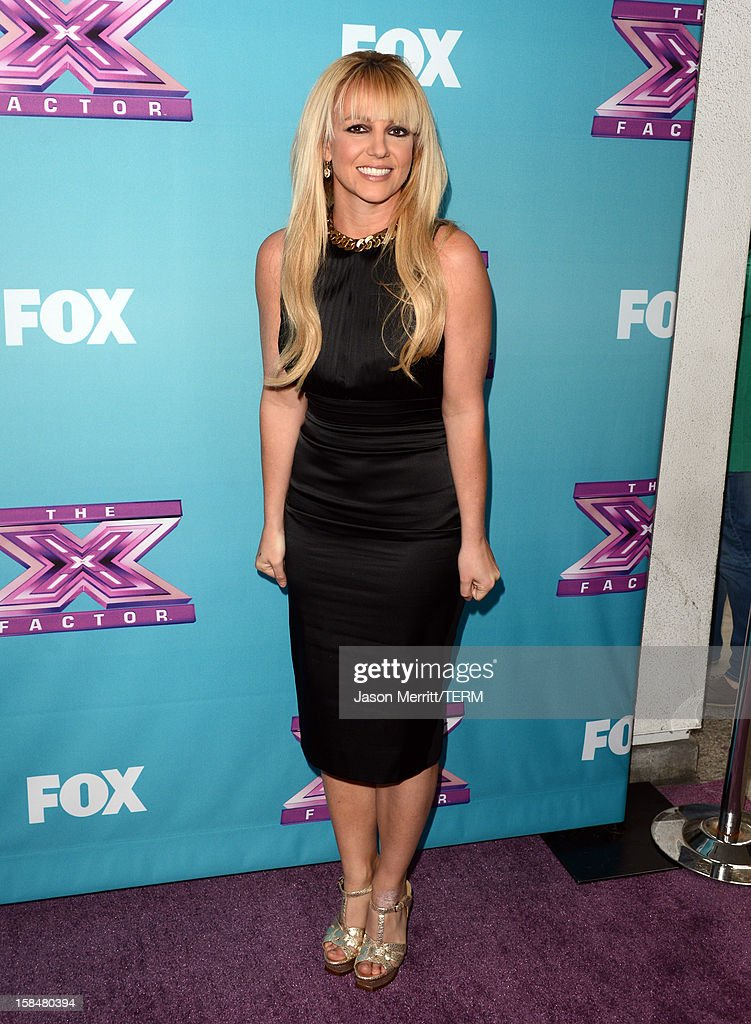 X Factor Judge <a gi-track='captionPersonalityLinkClicked' href=/galleries/search?phrase=Britney+Spears&family=editorial&specificpeople=156415 ng-click='$event.stopPropagation()'>Britney Spears</a> attends Fox's 'The X Factor' season finale news conference at CBS Television City on December 17, 2012 in Los Angeles, California.