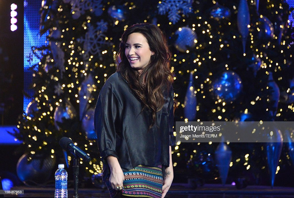 X Factor Judge Demi Lovato attends Fox's 'The X Factor' season finale news conference at CBS Television City on December 17, 2012 in Los Angeles, California.