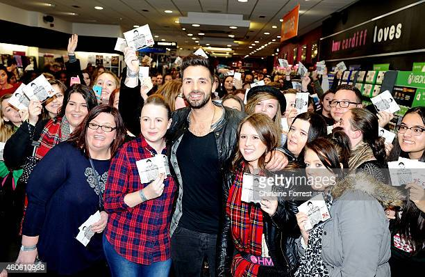 Factor winner Ben Haenow meets fans and signs copies of his winner's single 'Something I Need' at HMV Cardiff on December 17 2014 in Cardiff Wales