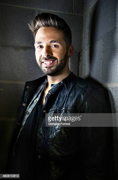 X Factor winner Ben Haenow poses backstage after meeting fans and signing copies of his winner's single 'Something I Need' at HMV Cardiff on December...
