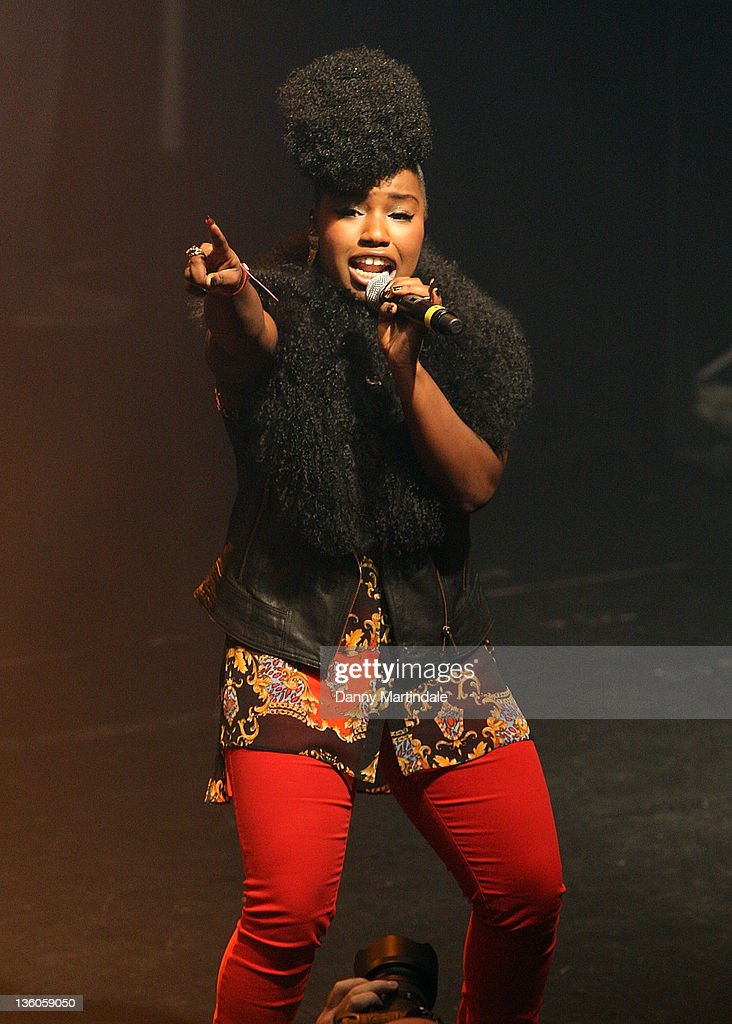 Factor's Misha B performs at the SBTV Christmas Party at KOKO on December 21 2011 in London England