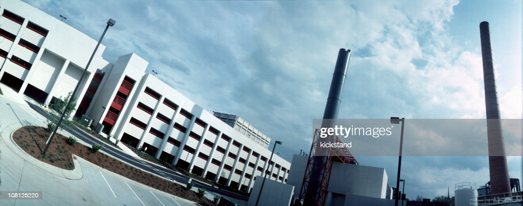 Factory and office complex widelux panorama : Stock Photo
