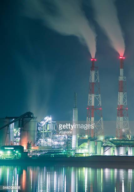 Factory at night