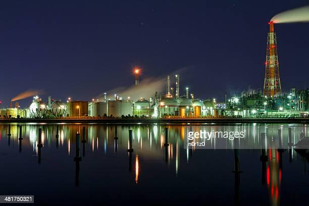 Factory night view (Yokkaichi, Mie)
