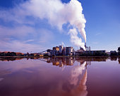 Factory over water