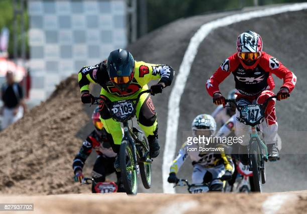 Factory Throdwn's Cole Tesar and DK Bikes' Collin Hudson finished 23 in the A Pro class at the USA BMX Mile High Nationals on August 5 at Grand...