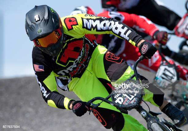 Factory Throdwn's Cole Tesar takes second in the A Pro class at the USA BMX Mile High Nationals on August 5 at Grand Valley BMX in Grand Junction CO...