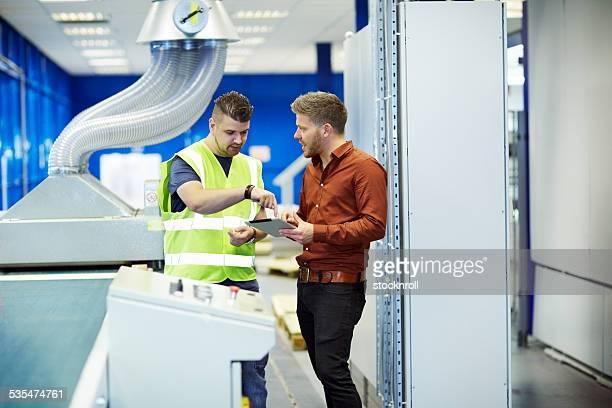 工場労働者については、新製品の開発計画でデジタルタブレット