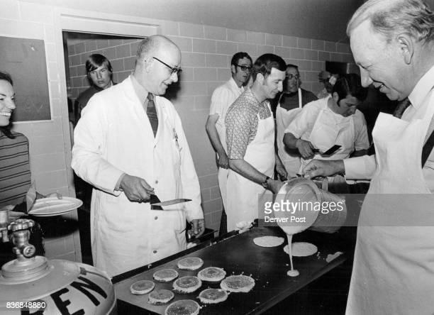 Faculty Is A Rewarding Group Joe Landeeth a Chemistry teacher at John F Kennedy High School is ready to flip pancakes while Burnett Severson school...