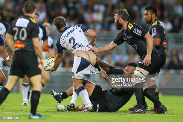 Facundo Bosch of Agen during the preseason match between Stade Rochelais and SU Agen on August 17 2017 in La Rochelle France