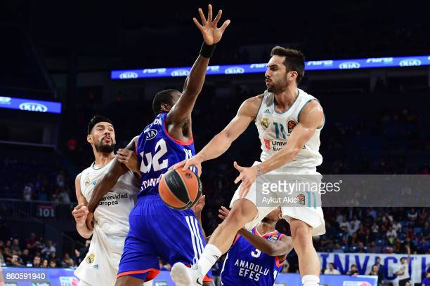 Facundo Campazzo #11 of Real Madrid in action during the 2017/2018 Turkish Airlines EuroLeague Regular Season Round 1 game between Anadolu Efes...