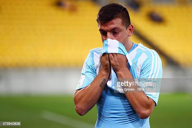 Facundo Monteseirin of Argentina reacts after the FIFA U20 World Cup New Zealand 2015 Group B match between Austria and Argentina at Wellington...