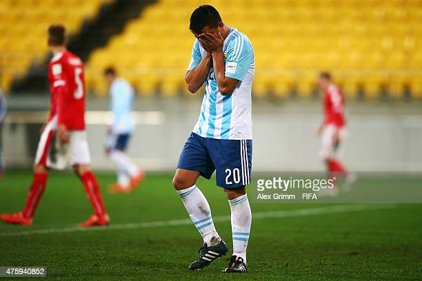 Facundo Monteseirin of Argentina reacts during the FIFA U20 World Cup New Zealand 2015 Group B match between Austria and Argentina at Wellington...