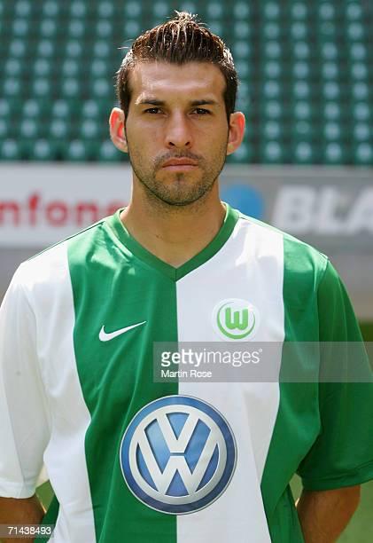 Facundo Quiroga of Wolfsburg poses during the Bundesliga 1st Team Presentation of VfL Wolfsburg at the Volkswagen Arena on July 13 2006 in Wolfsburg...