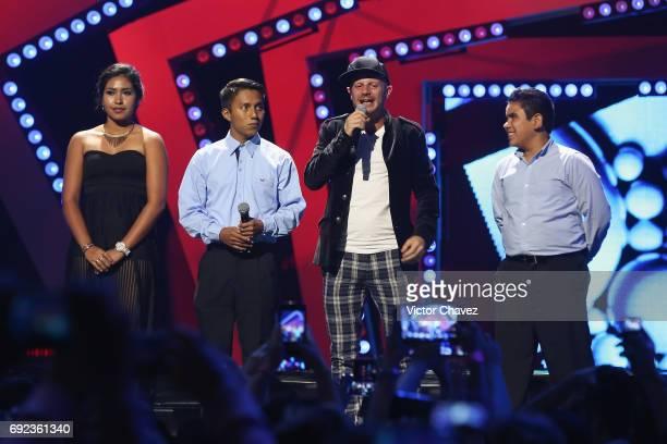 Facundo speaks on stage during the MTV MIAW Awards 2017 at Palacio de Los Deportes on June 3 2017 in Mexico City Mexico