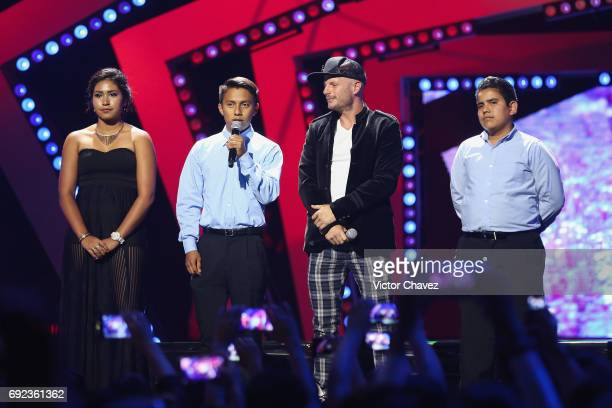 Facundo speaks on stage during the MTV MIAW Awards 2017 at Palacio de Los Deportes on June 3 2017 in Mexico City Mexico