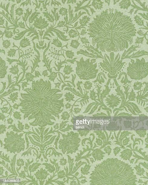 Verblichenen Papier mit floral ornament