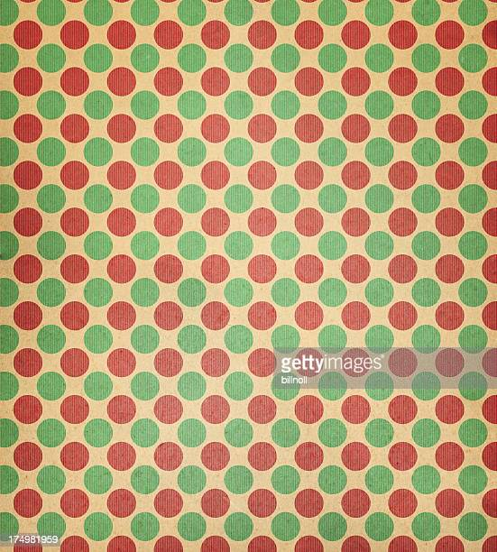 faded paper with red and green dots