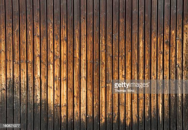 Faded wood on a barn