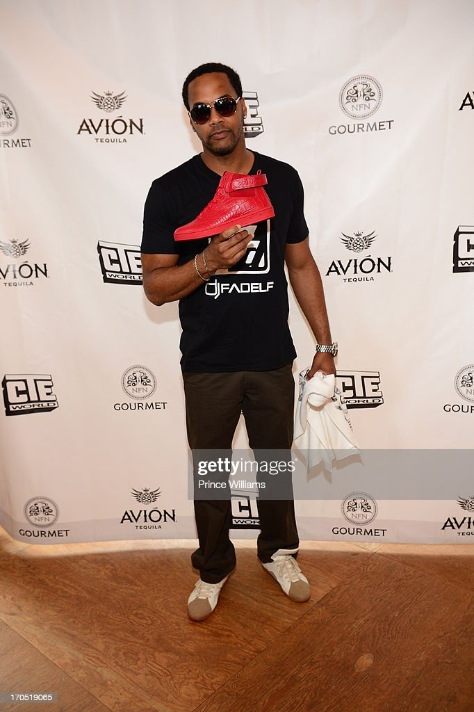 DJ Fadelf attends the Young Jeezy and Gourmet Footwear branding partnership launch at Wish Shoe Store on June 13, 2013 in Atlanta, Georgia.