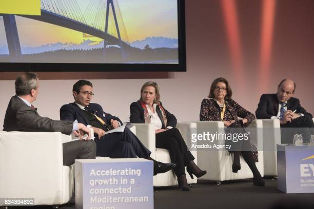 Fadhel Abdelkefi Tunisian Minister of Development Investment and International Cooperation Delphine Borione Senior Deputy Scretary General Union for...