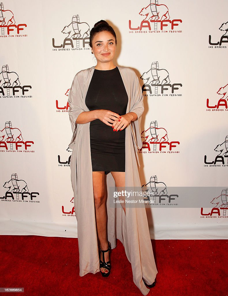 Fadik Sevin Atasoy attends The 2nd Annual Los Angeles Turkish Film Festival Opening Reception at the Egyptian Theatre on February 28, 2013 in Hollywood, California.