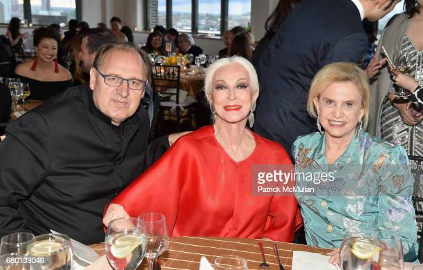 Fadil Berisha Carmen Dell'Orefice and Carolyn Maloney attend the China Fashion Gala 2017 by China Institute and China Beauty Charity Fund at Tribeca...