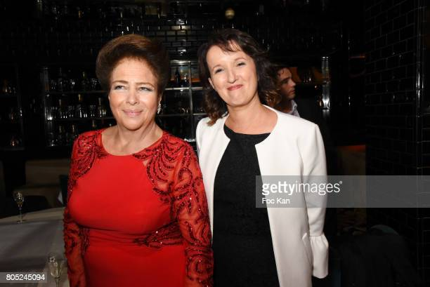 Fadila D'Egypte and Anne Roumanoff attend the 'Red Defile' Auction Fashion Show Hosted by Ajila Association Association Against Women Heart Disease...