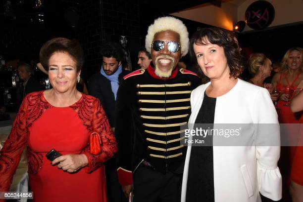 Fadila D'Egypte Anggy Haif and Anne Roumanoff attend the 'Red Defile' Auction Fashion Show Hosted by Ajila Association Association Against Women...