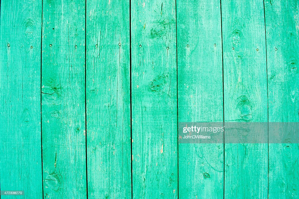 Fading Aqua Paint On Wood : Stock Photo