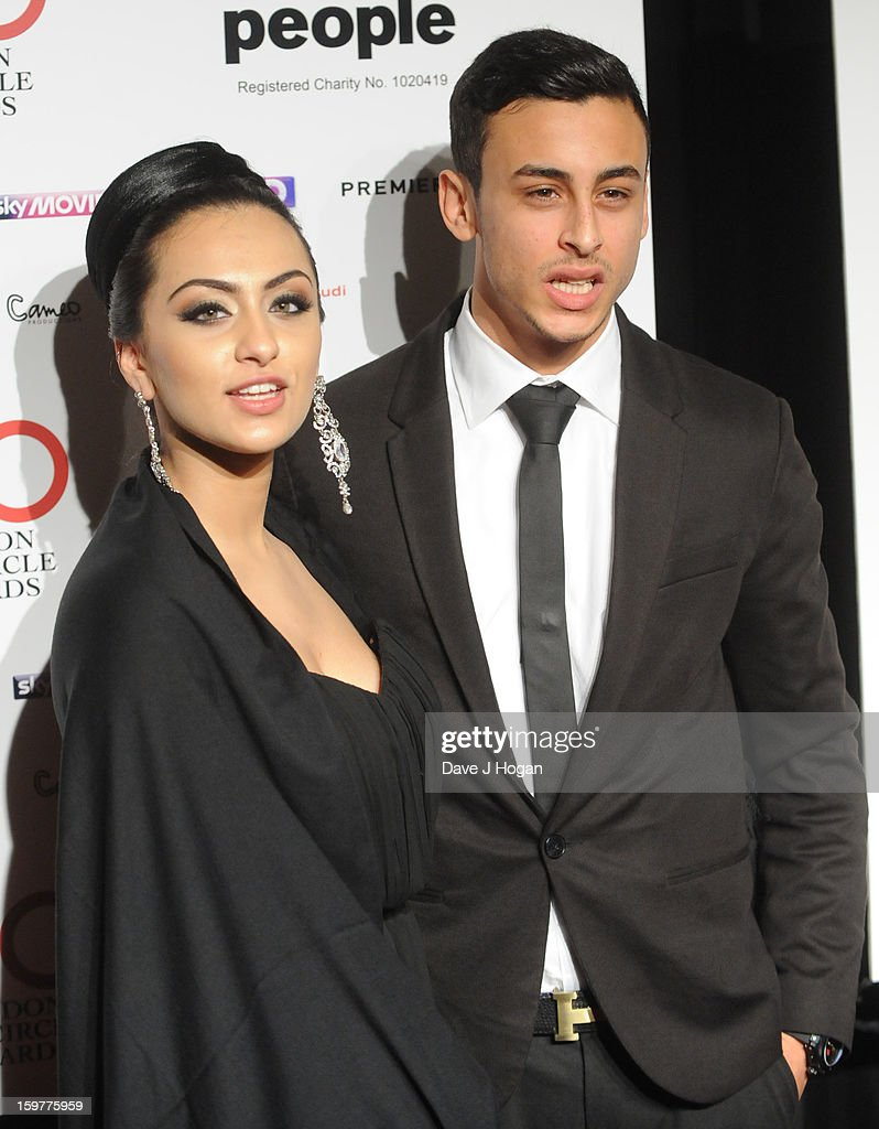 Fady Elsayed (R) arrives for the London Film Critics Circle Film Awards at The Mayfair Hotel on January 20, 2013 in London, England.
