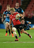 Faf de Klerk of the Lions breaks away during the Super Rugby match between Emirates Lions and Vodacom Bulls at Emirates Airline Park on April 04 2015...