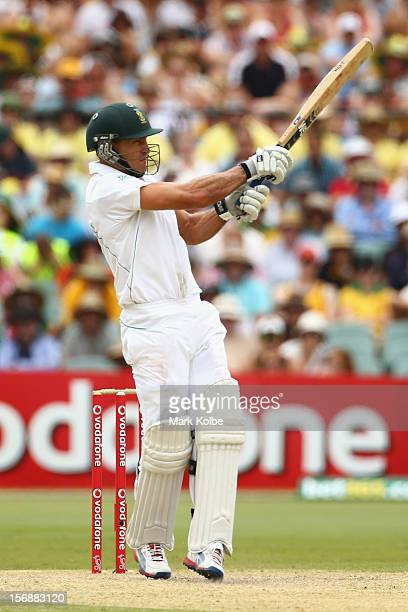 Faf du Plessis of South Africa bats during day three of the Second Test Match between Australia and South Africa at Adelaide Oval on November 24 2012...