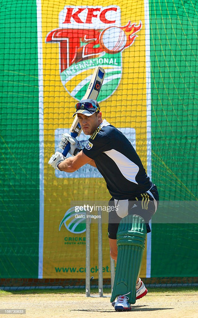 Faf du Plessis of South Africa during the 3rd T20 International match between South Africa and New Zealand at AXXESS St Georges on December 26, 2012 in Port Elizabeth, South Africa.