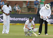 Faf du Plessis of South Africa in his nervous nineties during day 1 of the 2nd Test match between South Africa and West Indies at St Georges Park on...