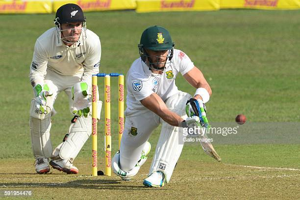 Faf du Plessis of the Proteas during day 1 of the 1st Sunfoil International Test match between South Africa and New Zealand at Sahara Stadium...