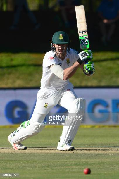 Faf du Plessis of the Proteas during day 1 of the 2nd Sunfoil Test match between South Africa and Bangladesh at Mangaung Oval on October 06 2017 in...