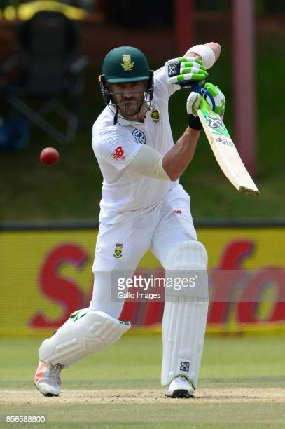Faf du Plessis of the Proteas during day 2 of the 2nd Sunfoil Test match between South Africa and Bangladesh at Mangaung Oval on October 07 2017 in...