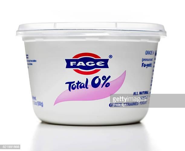 Fage greek strained yogurt jar