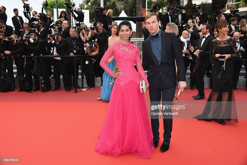 Fagun Thakrar and Christophe Guillarme attends the closing ceremony of the 69th annual Cannes Film Festival at the Palais des Festivals on May 22...