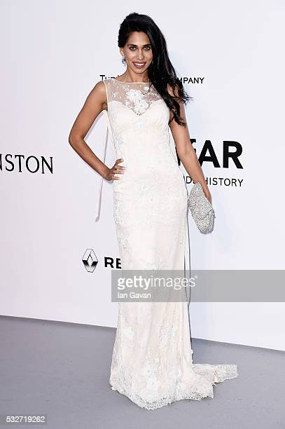 Fagun Thakrar arrives at amfAR's 23rd Cinema Against AIDS Gala at Hotel du CapEdenRoc on May 19 2016 in Cap d'Antibes France