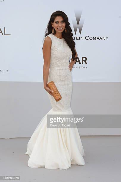 Fagun Thakrar arrives at the 2012 amfAR's Cinema Against AIDS during the 65th Annual Cannes Film Festival at Hotel Du Cap on May 24 2012 in Cap...
