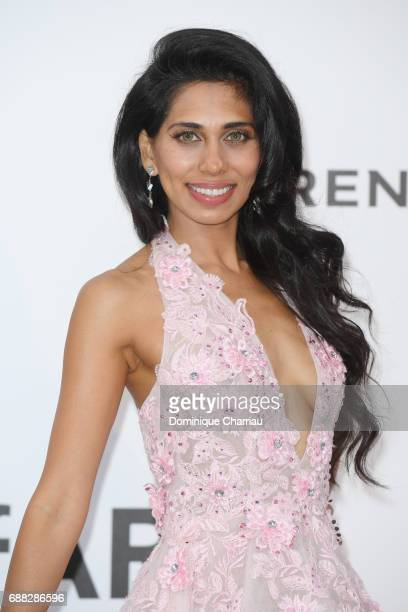 Fagun Thakrar arrives at the amfAR Gala Cannes 2017 at Hotel du CapEdenRoc on May 25 2017 in Cap d'Antibes France