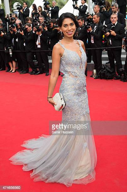 Fagun Thakrar attends the closing ceremony and 'Le Glace Et Le Ciel' Premiere during the 68th annual Cannes Film Festival on May 24 2015 in Cannes...