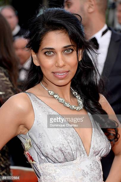 Fagun Thakrar attends the 'Money Monster' premiere during the 69th annual Cannes Film Festival at the Palais des Festivals on May 12 2016 in Cannes...