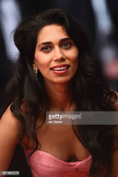 Fagun Thakrar attends the 'Personal Shopper' premiere during the 69th annual Cannes Film Festival at the Palais des Festivals on May 17 2016 in...